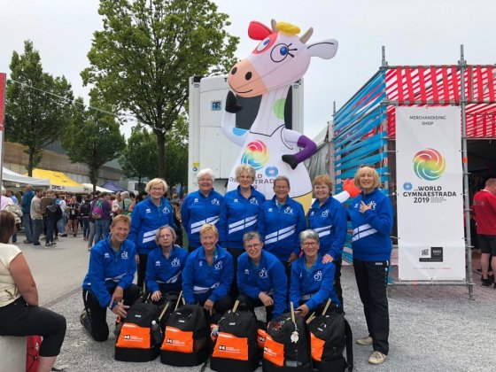 OKK Dordrecht bij World Gymnaestrada 2019 te Dorbin